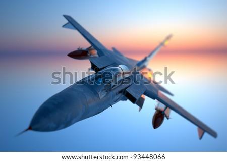 Jet fighter - stock photo