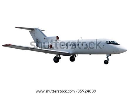 Jet isolated on white background - stock photo