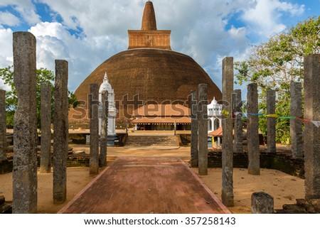 Jetavaranama dagoba stupa, Anuradhapura, Sri Lanka - stock photo