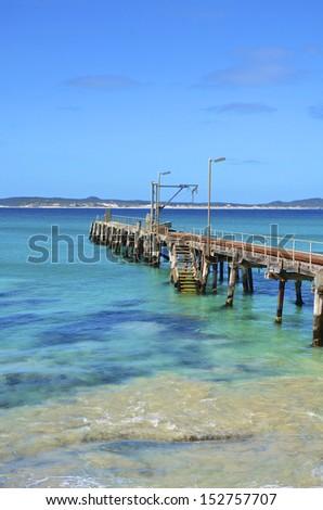 Jetty at Vivonne Bay, Kangaroo Island, South Australia - stock photo