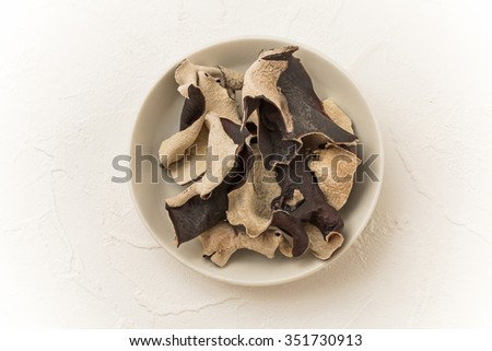 Jew's-ear dishes prepared with medicinal herbs - stock photo