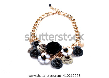 jewel/necklace/precious necklace - stock photo