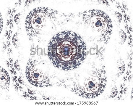 jewel pattern with hearts on white - stock photo