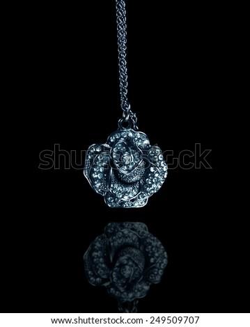 jewelery isolated on the black - stock photo