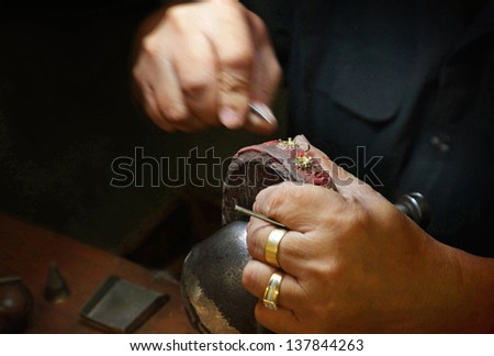 Jeweller - stock photo