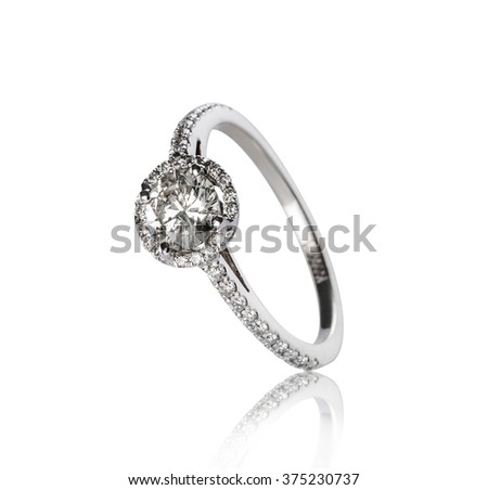Jewellery ring isolated on a white background - stock photo