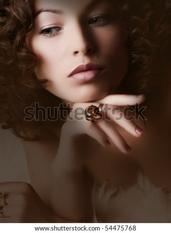 Jewelry and Beauty. Fashion art photo - stock photo