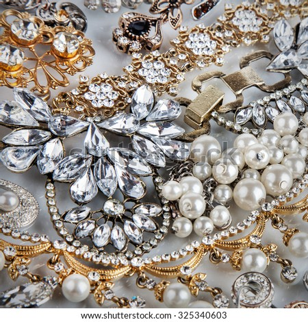 Jewelry background. Jewel - stock photo