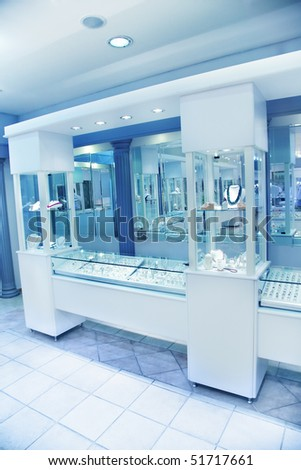 Jewelry store - stock photo