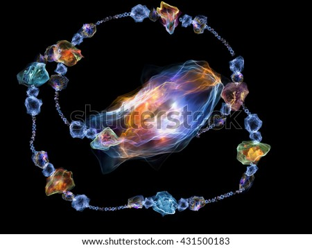 Jewels for Martian Girl series. Backdrop design of colorful organic forms and lights to provide supporting composition for works on jewelry, beauty, art, science, magic and imagination - stock photo