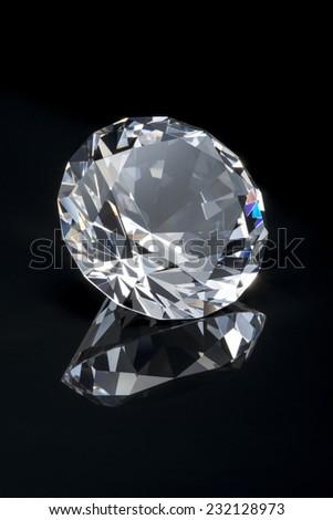 Jewels on black background - stock photo