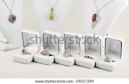 Jewerly set - stock photo