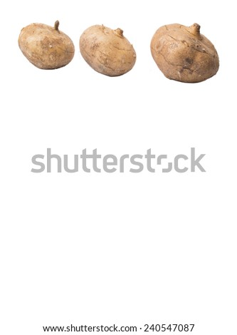 Jicama or Mexican yam over white background  - stock photo