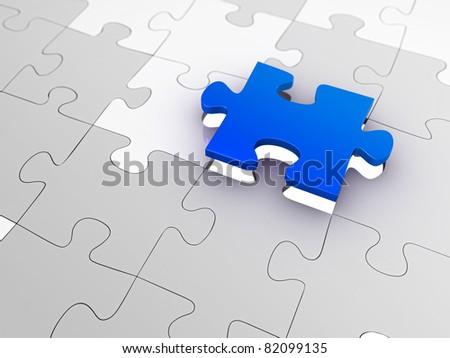 Jigsaw - stock photo