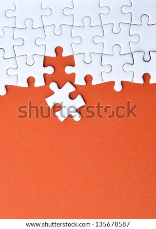 Jigsaw puzzle background - stock photo