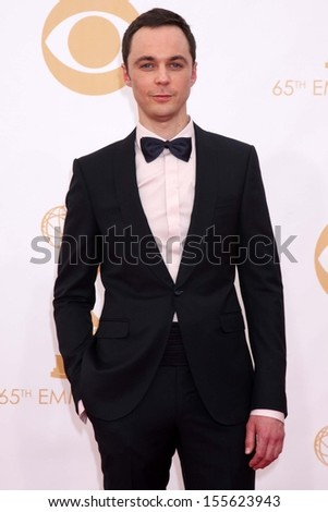 Jim Parsons at the 65th Annual Primetime Emmy Awards Arrivals, Nokia Theater, Los Angeles, CA 09-22-13 - stock photo