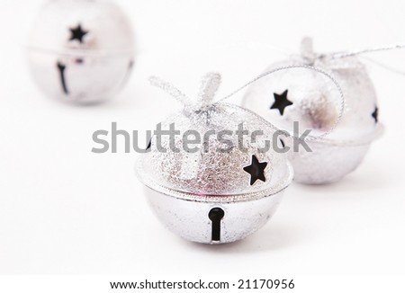 jingle bells on white background. - stock photo