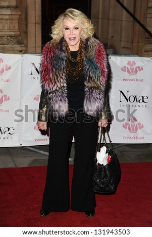 Joan Rivers arriving for the Prince's Trust Comedy Gala at the Royal Albert Hall, London. 28/11/2012 Picture by: Steve Vas - stock photo