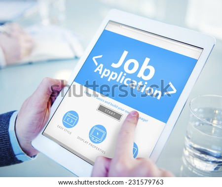 Job Application Career Apply Vacancy Concepts - stock photo