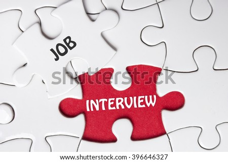 JOB Interview. Missing Piece Jigsaw Puzzle with word - stock photo