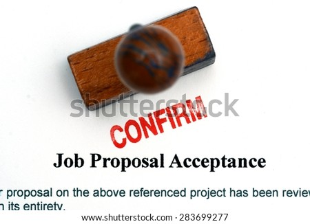 Job proposal form - stock photo