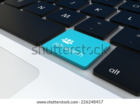 job search button on a keyboard - stock photo