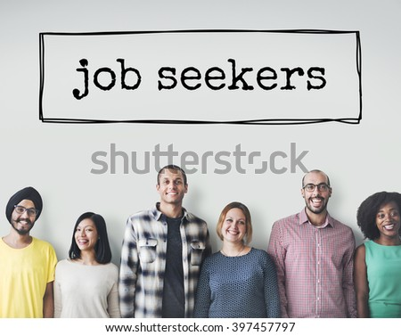 Job Search Career Recruitment Employment Occupation Concept - stock photo