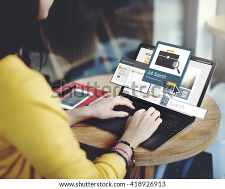 Job Search Career Recruitment Occupation Career Concept - stock photo