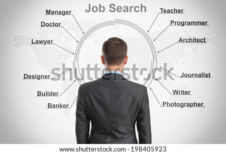 job search concept - stock photo