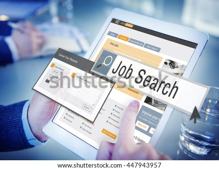 Job Search Human Resources Recruitment Career Concept - stock photo