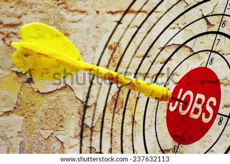 Job target - stock photo
