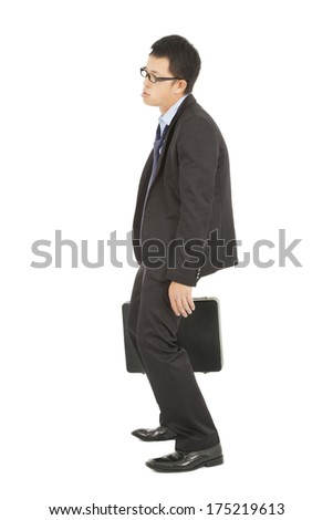 jobless businessman feel depression and depression - stock photo