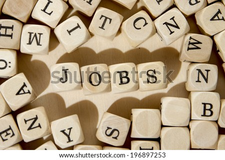 Jobs word concept - stock photo