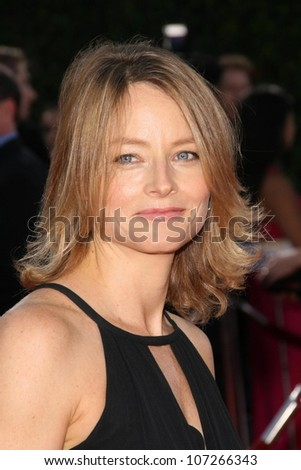 Jodie Foster  at the Los Angeles Premiere of 'Tropic Thunder'. Mann's Village Theater, Westwood, CA. 08-11-08 - stock photo