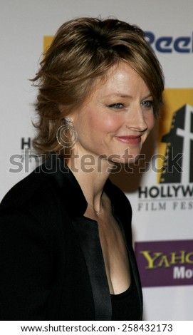 Jodie Foster at the 9th Annual Hollywood Film Festival Awards Gala Ceremony held at the Beverly Hilton Hotel in Beverly Hills, California United States on October 24, 2005. - stock photo