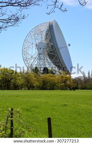 Jodrell bank observatory, Cheshire - stock photo