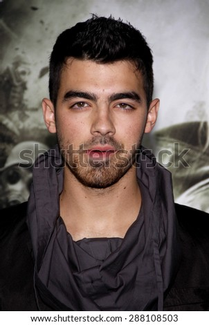 Joe Jonas at the Los Angeles premiere of 'Sucker Punch' held at the Grauman's Chinese Theater in Hollywood on March 23, 2011.  - stock photo