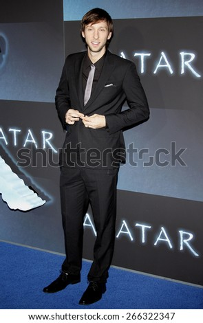 Joel Moore at the Los Angeles premiere of 'Avatar' held at the Grauman's Chinese Theater in Hollywood on December 16, 2009.  - stock photo