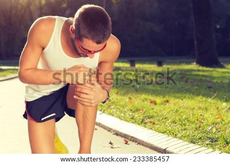 Jogging injury. - stock photo