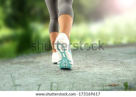 jogging legs - stock photo