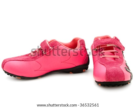 jogging shoes - stock photo