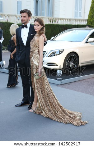 Johannes Huebl and Olivia Palermo at the 66th Cannes Film Festival - amfAR's 20th Annual Cinema Against AIDS - Arrivals, Cannes, France. 23/05/2013 - stock photo