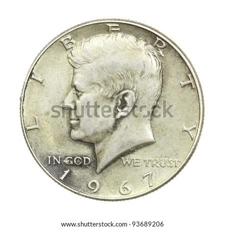 John F Kennedy Half Dollar - stock photo