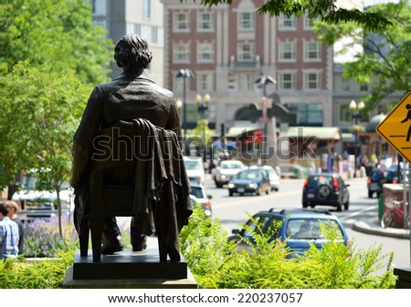 John Harvard Back - stock photo