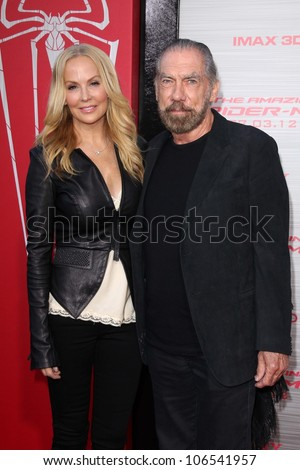"John Paul DeJoria at ""The Amazing Spiderman"" World Premiere, Village Theater, Westwood, CA 06-28-12 - stock photo"