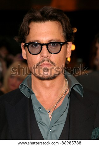 Johnny Depp arriving for the UK premiere of 'Pirates Of The Carribean 4: On Stranger Tides', at Vue Westfield, London. 12/05/2011. Picture by: Alexandra Glen / Featureflash - stock photo