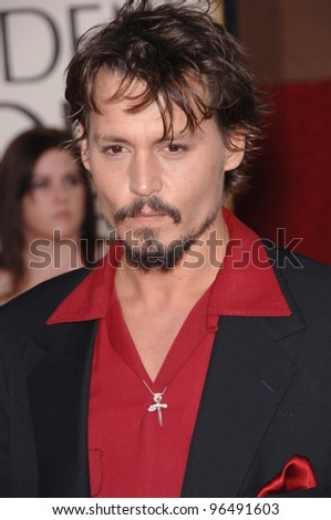 JOHNNY DEPP at the 63rd Annual Golden Globe Awards at the Beverly Hilton Hotel. January 16, 2006  Beverly Hills, CA  2006 Paul Smith / Featureflash - stock photo
