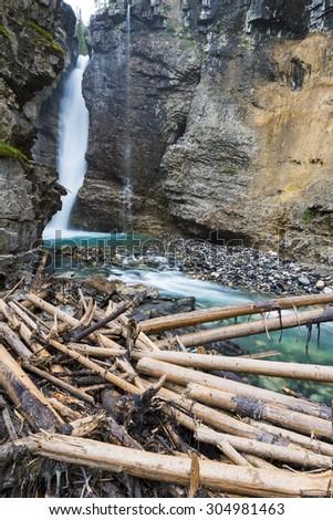 Johnston Canyon. Banff National Park, Alberta, Canada - stock photo