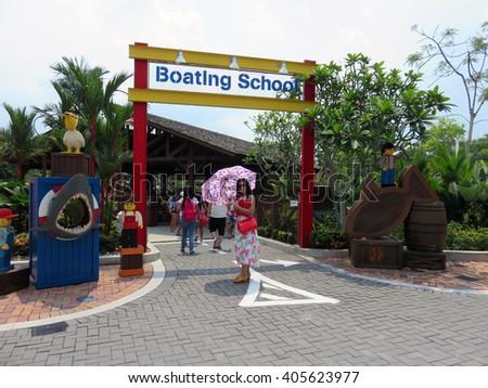 JOHOR MALAYSIA  - NOVEMBER 11:  Boating School LEGOLAND Malaysia Theme Park November 11, 2014  in Johor, Malaysia - stock photo