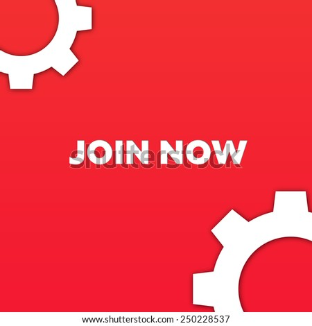 JOIN NOW - stock photo